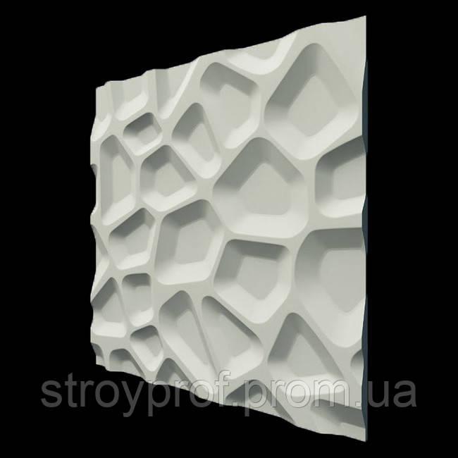 3D панели «Впадины» Бетон