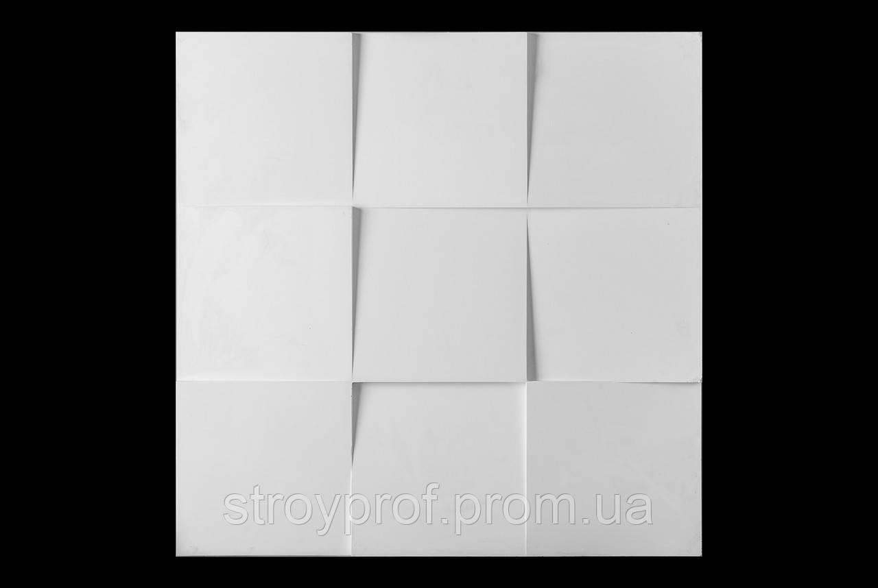 3D панели «Квадраты» Бетон
