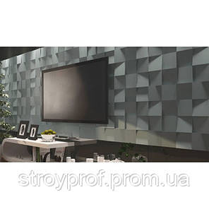 3D панели «Квадраты» Бетон, фото 2
