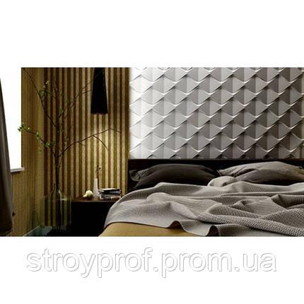 3D панели «Пирамидки» Бетон, фото 2