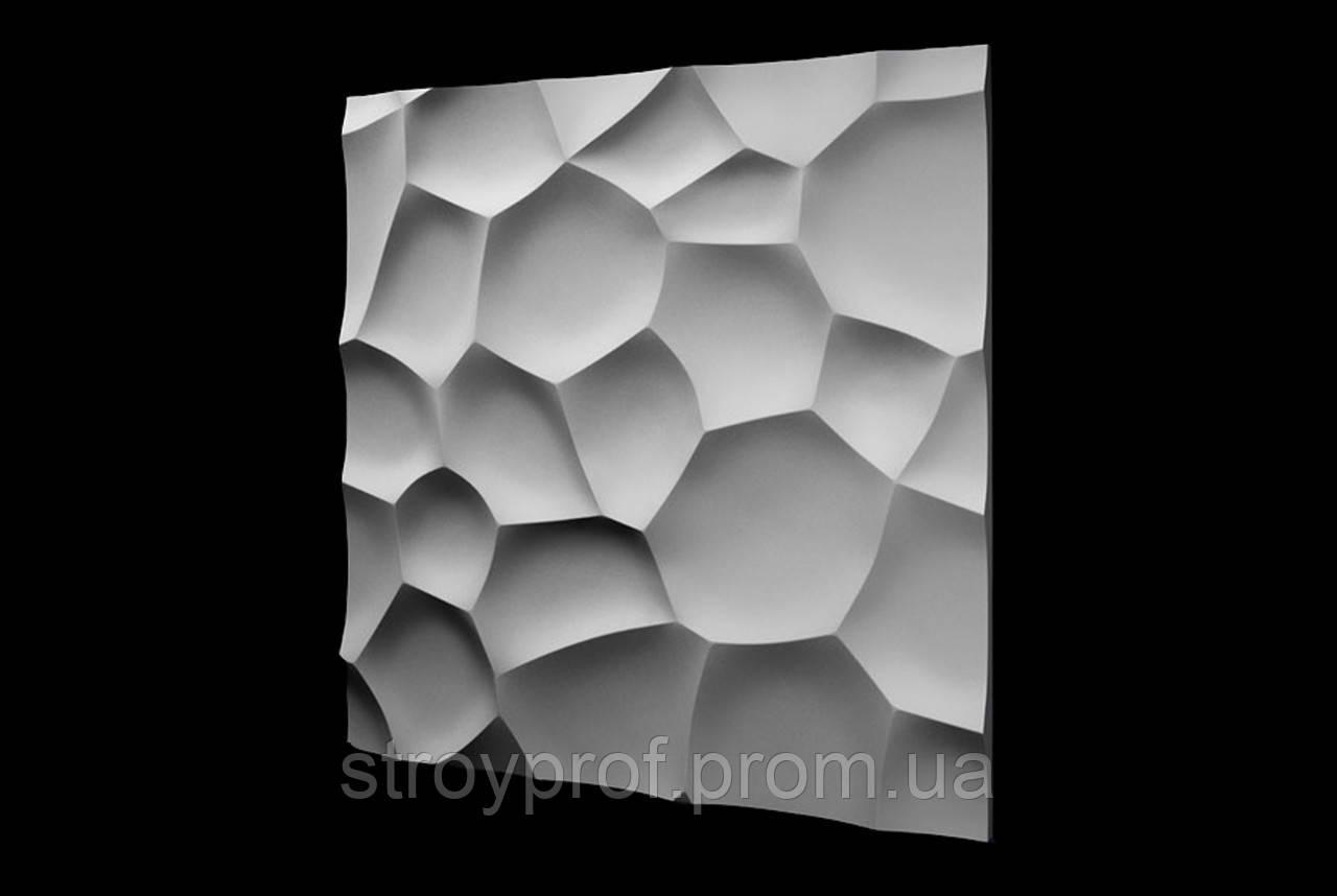 3D панели для стен «Ракушки» Бетон