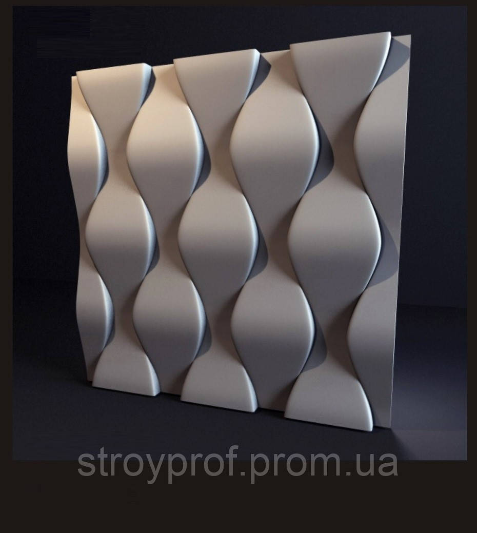 3D панели «Чешуя» Бетон