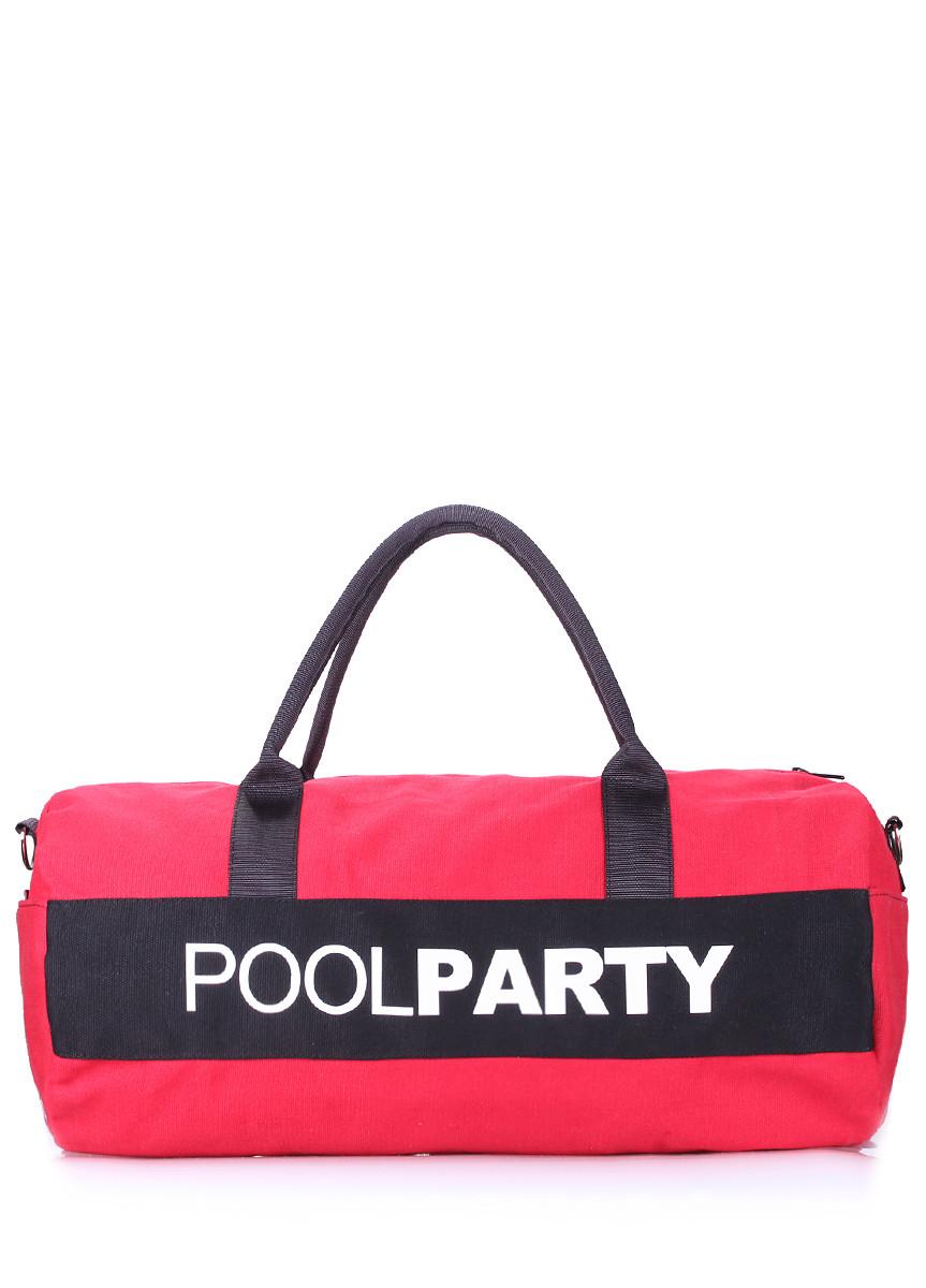 Спортивно-повсякденна сумка POOLPARTY poolparty-gymbag-red-black