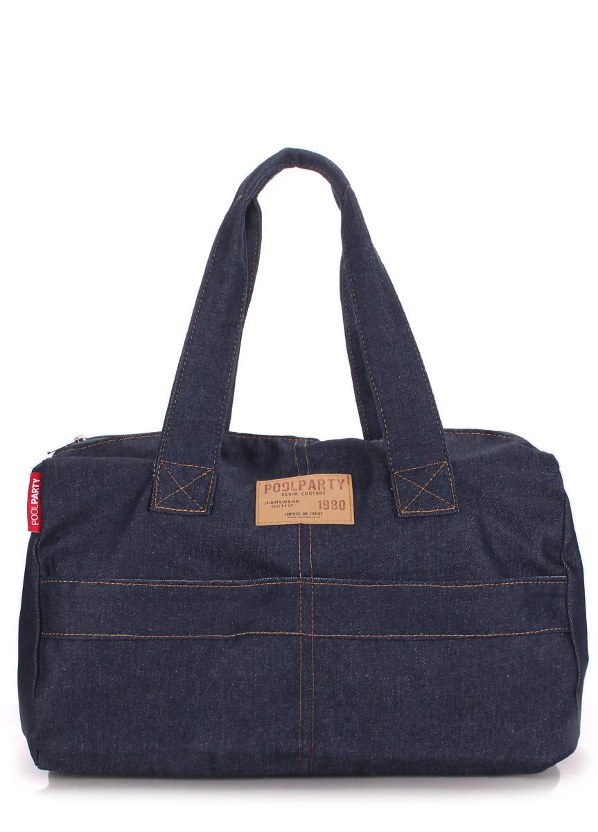Коттоновая сумка POOLPARTY sidewalk-jeans