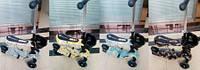 Самокат BT-KS-0084 3-х кол.пластик.с сиденьем+корзина 4цв.свет.PU 120мм 34*13см 3,33кг кор.ш.к./6/