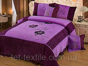 Покрывало бархатное фиолетовое 230х250