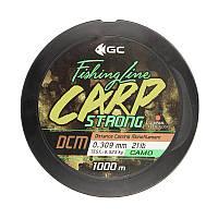 Леска GC Carp Strong DCM 1000м 0.309мм 21lb Camo