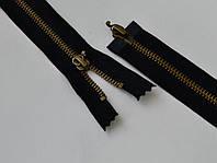 Молния Т5 чёрного цвета бегунок цвет бронза арт. 14001-br, цена за 1 упаковку 10шт.