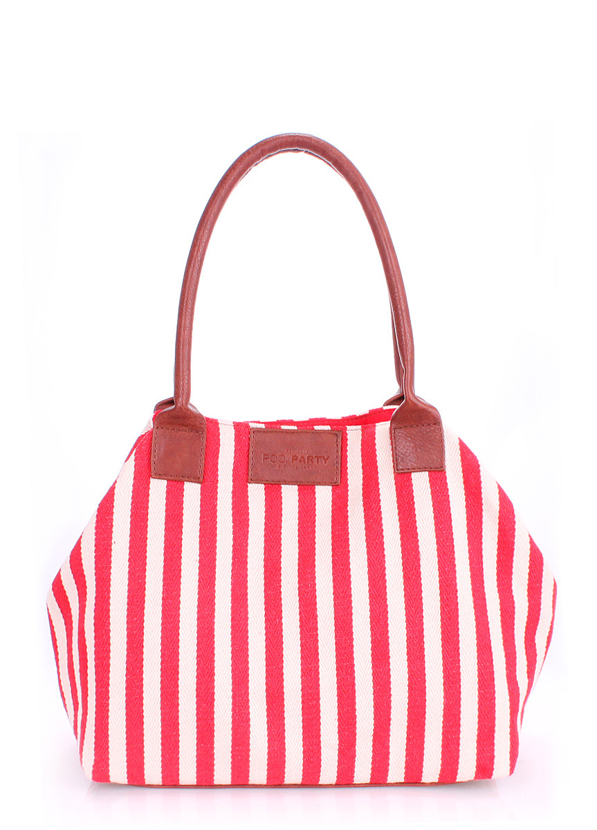 Коттоновая сумка POOLPARTY pool-navy-red