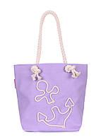 Коттоновая сумка с якорем POOLPARTY anchor-lilac-none