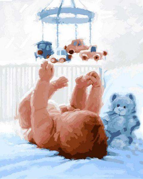 Раскраски по цифрам 40×50 см. Новорожденный Художник Ричард Макнейл