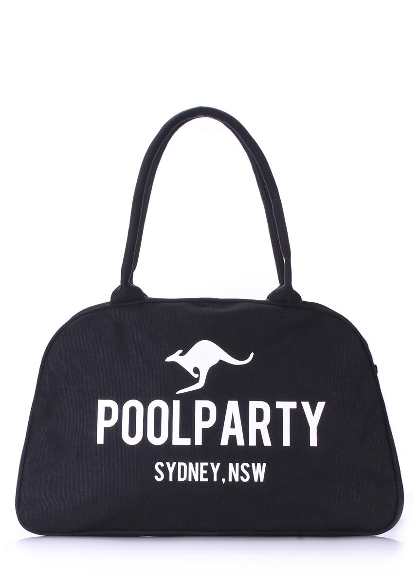 Коттоновая сумка-саквояж POOLPARTY pool-16-black