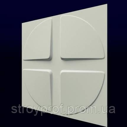 3D панели «Скаты-круг-2» Бетон, Для внутренних работ, Плитка, фото 2