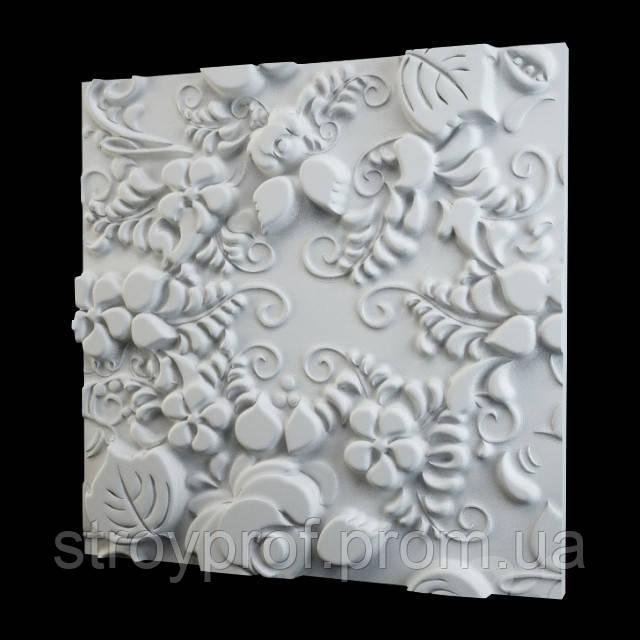 3D панели  «Flora» Бетон