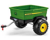 Детский прицеп для трактора 2-х колесный Peg Perego John Deer Adventure Trailer