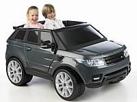 Двухместный детский внедорожник Range Rover Sport 12V Графит, Черный