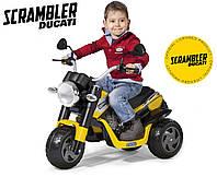 Трициклдля мальчика Peg-Perego Ducati Scrambler