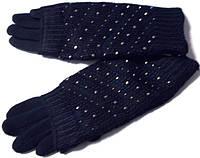 Перчатки на меху и митенки СЕНСОРНЫЕ 2 в 1 синие