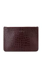 Кожаная сумочка-клатч POOLPARTY 2D 2D-amphibia-brown