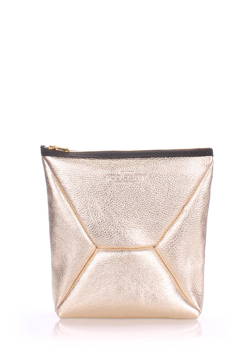 Шкіряна сумочка-клатч POOLPARTY THE the X-x-gold