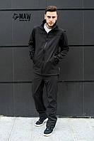 Soft Shell Мужская горнолыжная куртка софтшелл на флисе влагоустойчевая MAW man&wolf