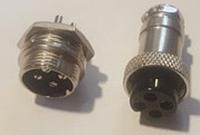 """Коннектор для светодиодных лент OEM №18 4pin-4pin """"мама"""" + """"папа"""" металл"""