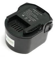 Аккумулятор PowerPlant для шуруповертов и электроинструментов AEG GD-AEG-12(B) 12V 2Ah NICD (B1214G) DV00PT0024