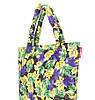 Дутая сумка POOLPARTY с принтом pp4-yellow-violet-leaves, фото 2