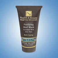 Маска для лица Health&Beauty очищающая грязевая с Алое Вера 150 мл.