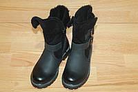 Зимние кожаные ботинки на девочку