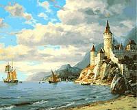 Картины по номерам 40×50 см. Дворец у моря Художник Валерий Черненко
