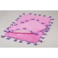 Набор ковриков для ванной хлопок 60х90, 40х60 см. IRYA JOY PEMBE