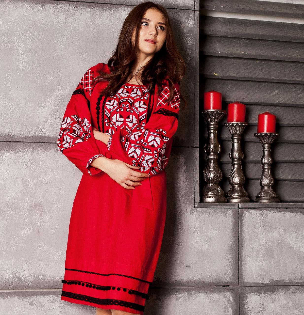 Вишите плаття Любов (100% льон) 0e361b3353a40