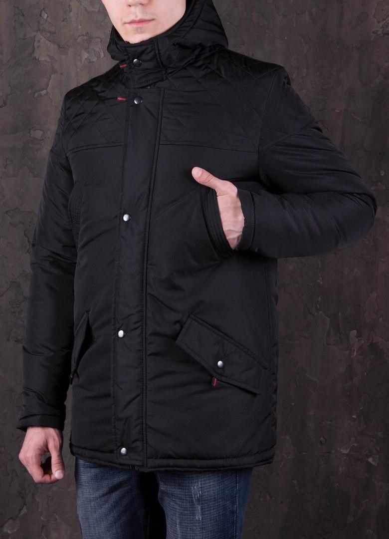 Парка зимняя мужская с капюшоном DarkSide Triple Black. Живое фото