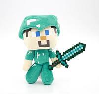 Стив в алмазной броне Майнкрафт minecraft