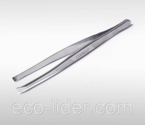 Пинцет для бровей CLASSIC 10 (широкие прямые кромки) СталексTC-10/1