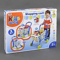 """Игровой набор """"Супермаркет"""" тележка с продуктами, играет мелодия, светится, в кор. /10/"""