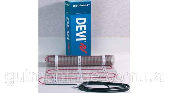 Теплый мат под плитку. Нагревательный мат DEVImat T-150  1,5 м2.