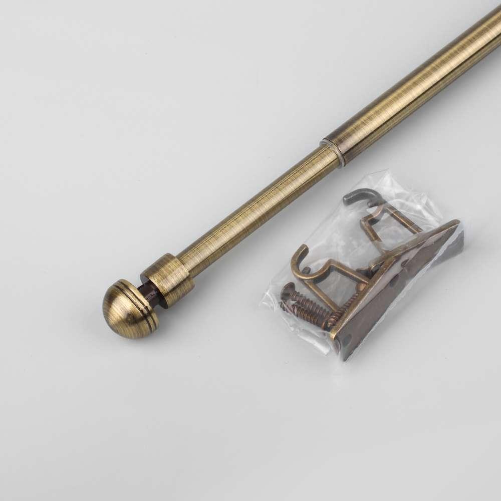 "Карниз ""Тоди мини"" 80-120 см антик (металл) для фиранок"