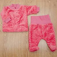Комплект детский MirAks SCL-5015-00 Crimson (Малиновый/кофта + ползунки/махра)