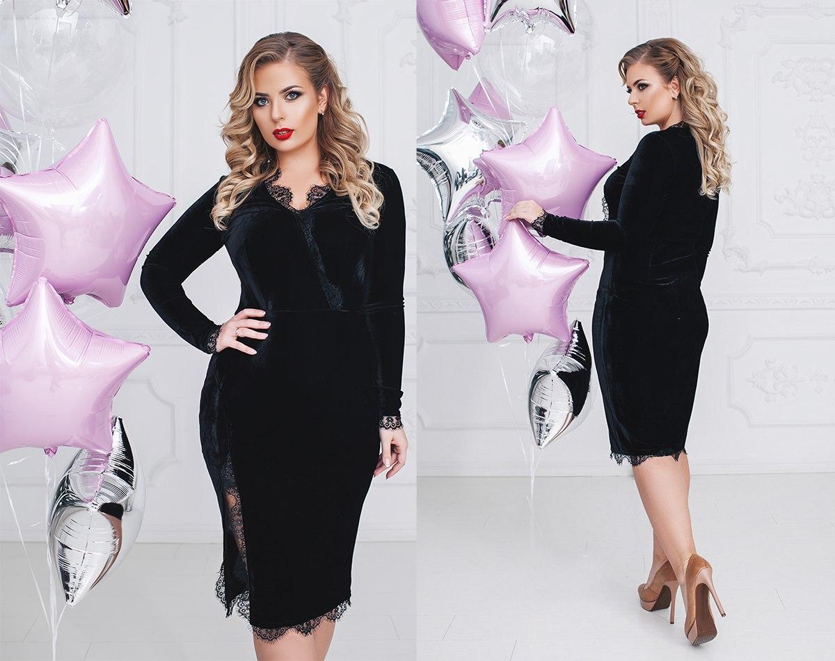 0bb4e103666 Платье женское теплое большого размера Бархат  продажа