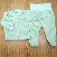 Комплект детский MirAks SCL-5015-00 Turquoise (Бирюзовый/кофта + ползунки/махра)