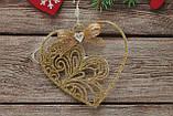Игрушка подвесное сердце с бантиком, фото 2