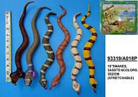 Силиконовая змея 38 см 6 видов 6 шт. /32/