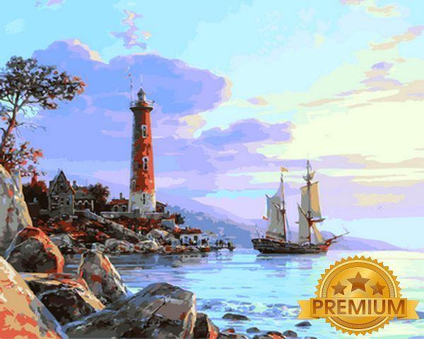 Картины по номерам на холсте 40×50 см. Babylon Premium К далёким берегам Художник Валерий Черненко