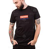 Supreme x Гоша рубчинский | Черная футболка  | бирка оригинал