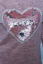 Трикотажная женская кофта с нашивкой персик, фото 3