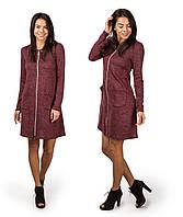 Платье женское новогоднее змейка с двумя замками 90 бордо СП