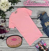 Детская трикотажная туника с отворотами Zara на 6-7 лет (розовый)  TS4892