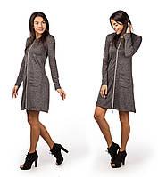 Платье женское новогоднее змейка с двумя замками 90 графитСП